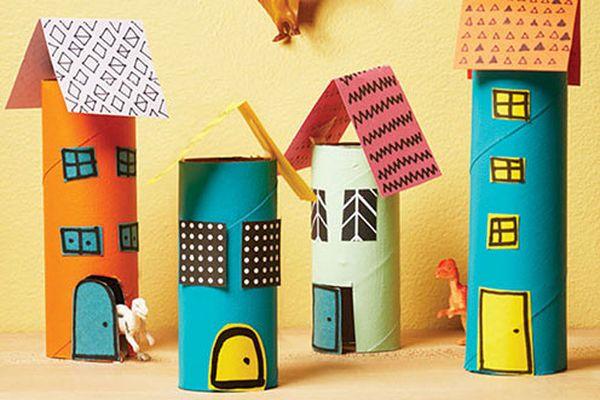házak papírgurigából