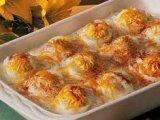 Csőben sült töltött tojás
