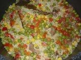 Zöldséges-húsos rizs