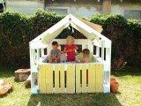 Raklapokból kerti játszókuckó a gyereknek - Így készítsd el egyszerűen 6 lépésben! Fotókkal, leírással