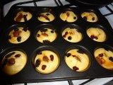 Muffin palacsinta: omlós sütemény csokival és gyümölcsdarabokkal