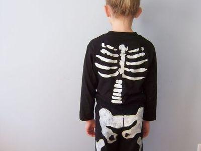 Farsangi jelmezötletek - csontváz jelmez