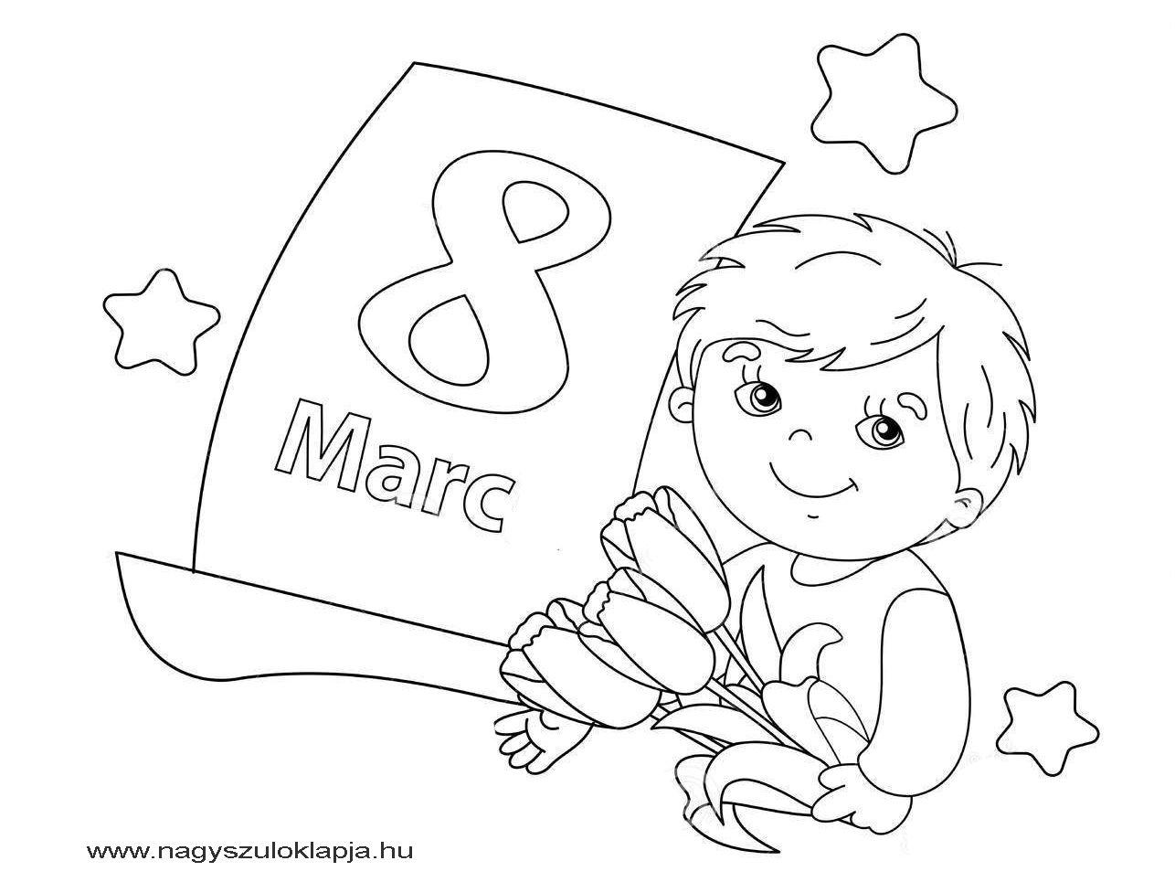 Nőnap - 10 letölthető, nyomtatható színező a gyerekeknek nőnap alkalmából