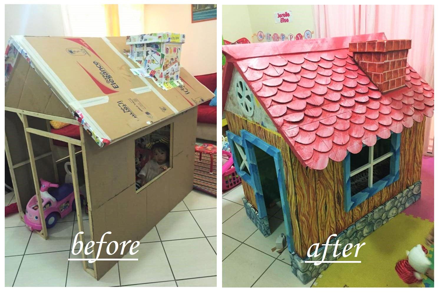 Igazi meseházikót épített a nagypapa kicsi unokájának - Nem fogod elhinni, miből készült!
