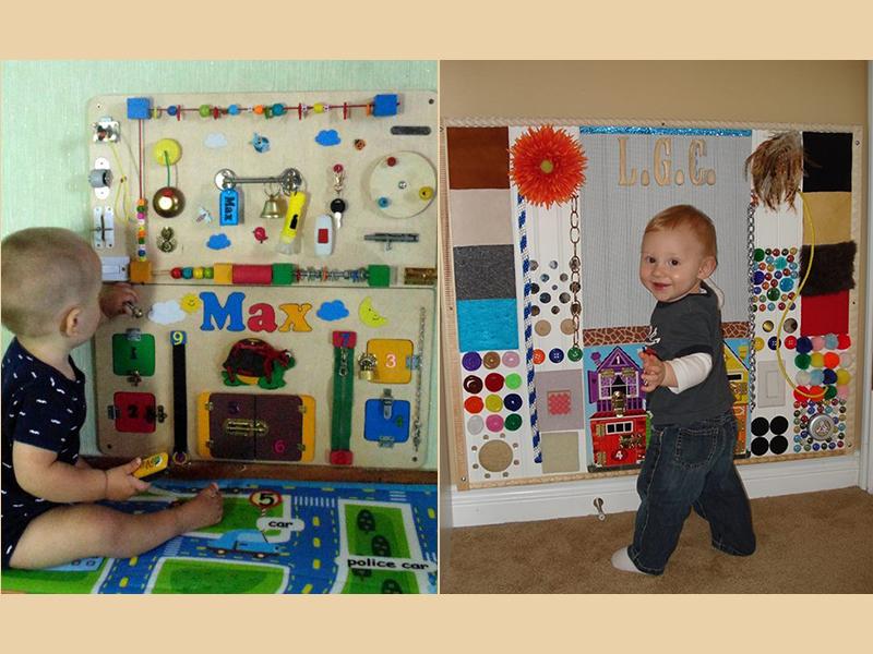 Egyszerű, de zseniális játék babáknak, kisgyermekeknek! Órákra lefoglalja és fillérekbe kerül - Így készíts matatófalat házilag!