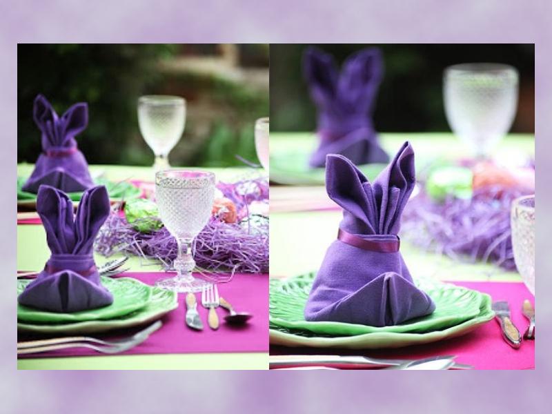 Húsvéti szalvétahajtogatás - Így lesz nyuszifüles az ünnepi szalvéta! Lépésről lépésre fázisfotókkal