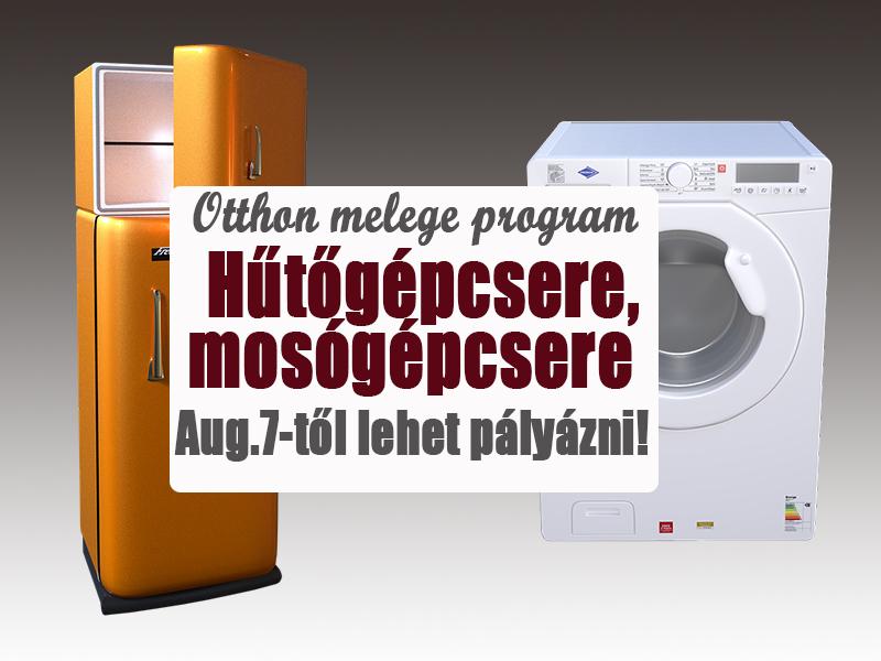 Hűtőgépcsere-, mosógépcsere program 2017: akár 45 ezer forintot is kaphatsz új hűtőre, mosógépre! Mától lehet pályázni