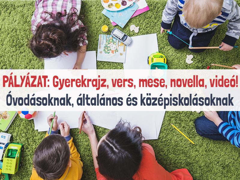 Rajz-, szépíró és kreatív pályázat gyerekeknek: óvodás kortól középiskolás korig lehet pályázni a megadott témakörben