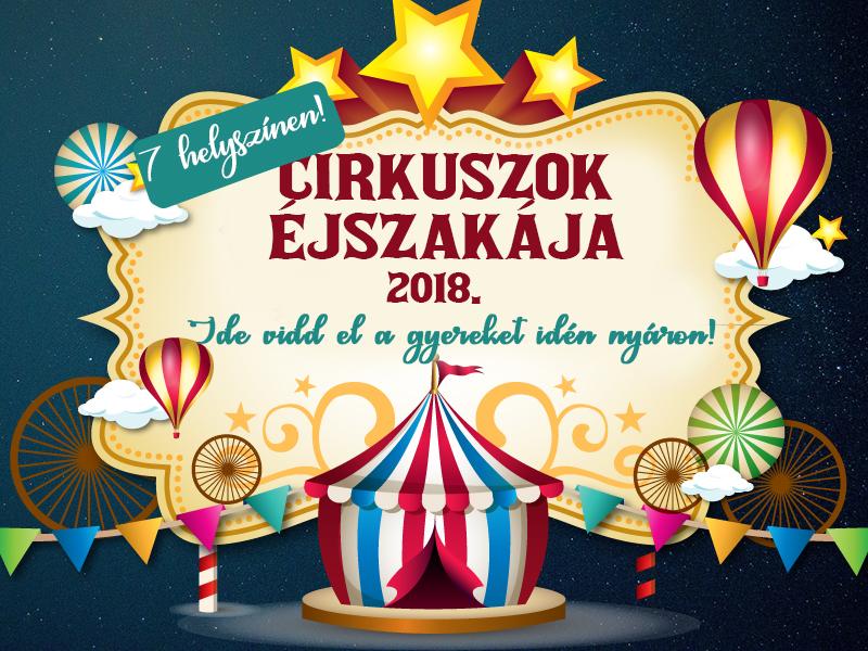Cirkuszok Éjszakája 2018: ezt a napot tuti imádni fogják a gyerekek! - Részletes programleírás és helyszínek, ahova mehettek